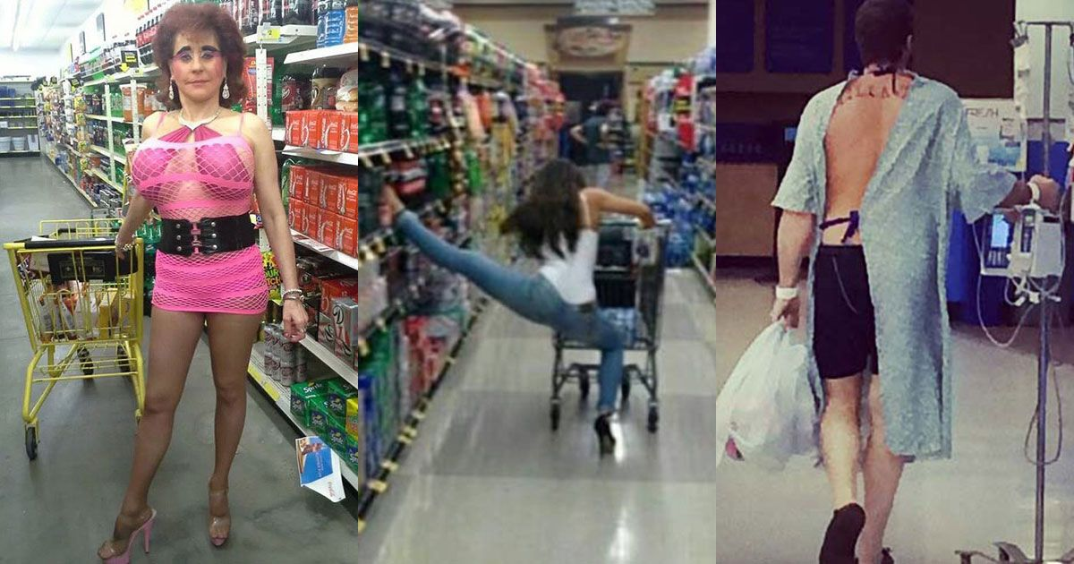 Shoppers at Walmart